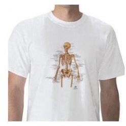 Anatomické tričko - lidská kostra - DOPRODEJ