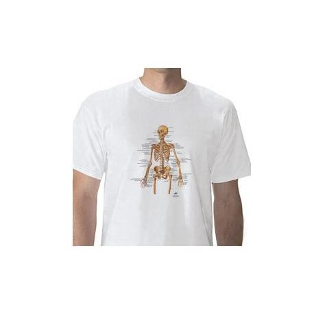 Anatomické tričko - lidská kostra