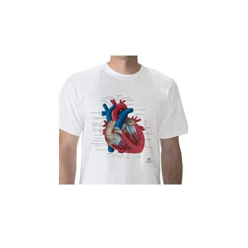 Anatomické tričko - lidské srdce DOPRODEJ