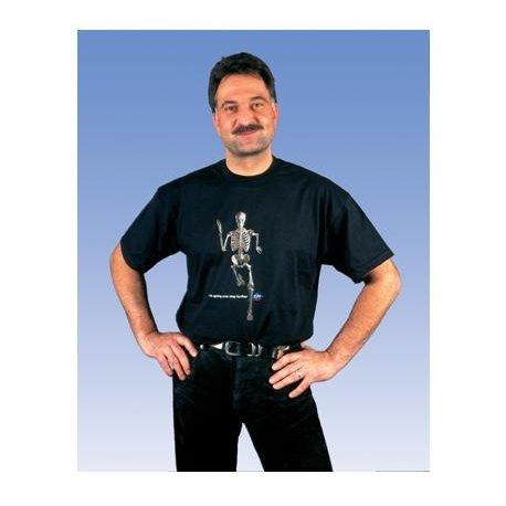 Anatomické tričko - kráčející kostlivec - XL