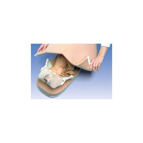 Simulátor na zjistění polohy dítěte pohmatem