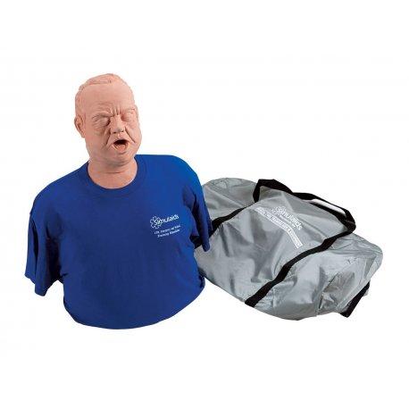 Figurína dusícího se obézního muže