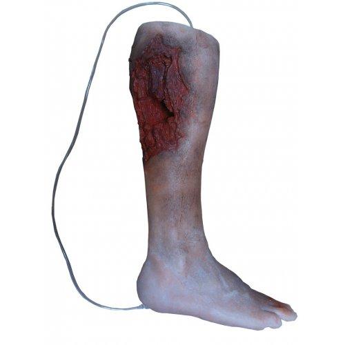 Simulátor péče o nohu s poraněním