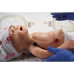 Simulátor resuscitace novorozence, možnost EKG