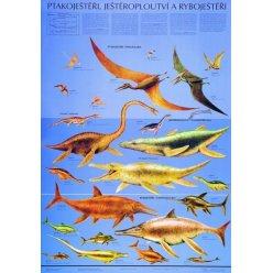 Schéma - Ptakoještěři, ještěroploutví a ryboještěři