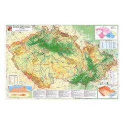 Zeměpisná nástěnná mapa ČR EX350 138 x 95 cm