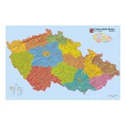 Reliéfní nástěnná mapa ČR 156 x 103 cm