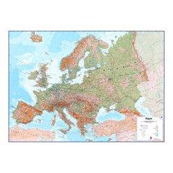 Zeměpisná nástěnná mapa Evropy - fyzická 136 x 98 cm