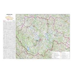 Nástěnná mapa Jihočeský kraj PF170 113 x 80 cm
