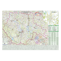 Nástěnná mapa Jihočeský kraj PF150 130 x 99 cm