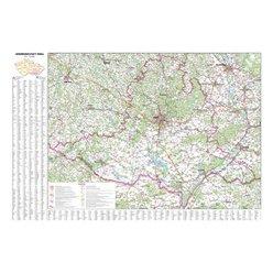Nástěnná mapa Jihomoravský kraj PF170 113 x 80 cm