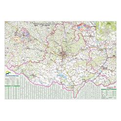 Nástěnná mapa Jihomoravský kraj PF130 130 x 94 cm
