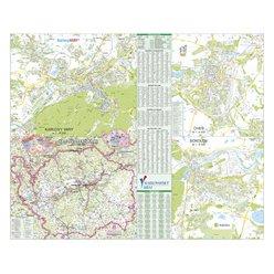 Nástěnná mapa Karlovarský kraj PF130 130 x 106 cm