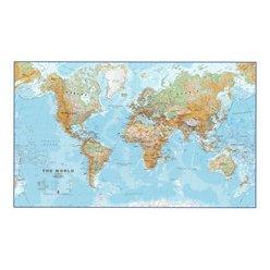 Fyzická nástěnná mapa světa CE30 136 x 85 cm