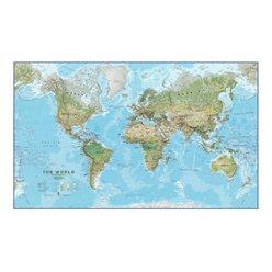 Zeměpisná nástěnná mapa světa CE30 136 x 85 cm