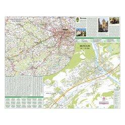 Nástěnná mapa Beroun 90 x 72 cm
