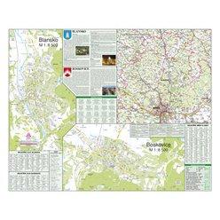 Nástěnná mapa Blansko, Boskovice 90 x 72 cm