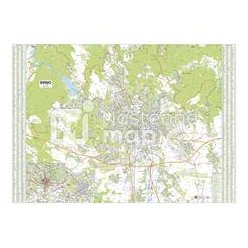 Nástěnná mapa Brno 138 x 99 cm