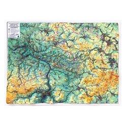 Plastická mapa Českosaské Švýcarsko 100 x 75 cm