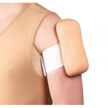 Nasazovací trenažér očkování pro intramuskulární a subkutánní injekci